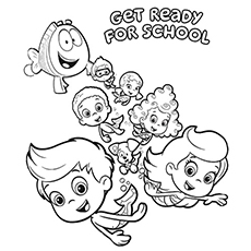 Bubble Guppies Coloring Pages Captivating Bubble Guppies Coloring Pages  25 Free Printable Sheets Design Ideas
