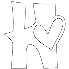 picture about Printable Letter H identified as Best 25 Totally free Printable Letter H Coloring Webpages On line