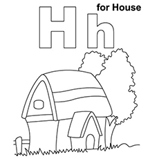 Lowercase H Coloring Page