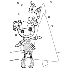 lalaloopsy Holly Coloring Page to Print Free