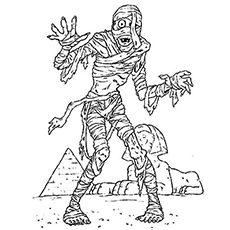 Mummy Monster from Egypt Coloring Sheet