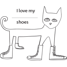 Pete Loves his White Shoes Coloring Pages
