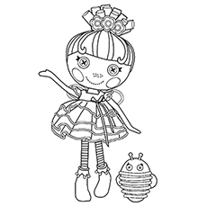 Coloring Page of Pix E. Flutters magical sprite of Lalaloopsy Land