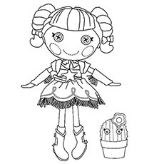 Free Lalaloopsy Prairie Dusty Trails Doll Coloring Page to Print
