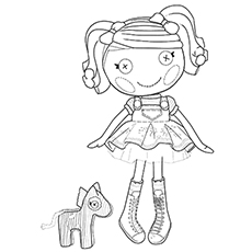 Free Printable Coloring Page of Spot Splatter Splash is Fifth Character Doll of Lalaloopsy