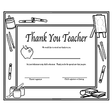 the thank you teacher