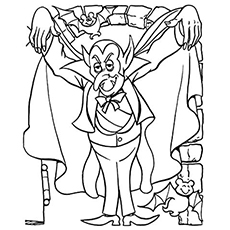 Dracula Monster Printable Coloring page
