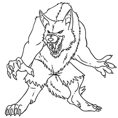 Werewolf Printable Monster Coloring Pages