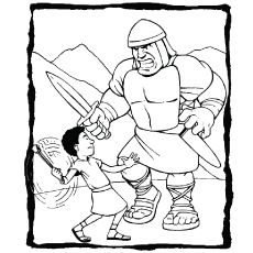 David And Goliath Coloring Pages Classy Top 25 'david And Goliath' Coloring Pages For Your Little Ones Design Ideas