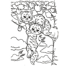 tiger lisa frank kittens princess glamor girl coloring page - Lisa Frank Coloring Pages