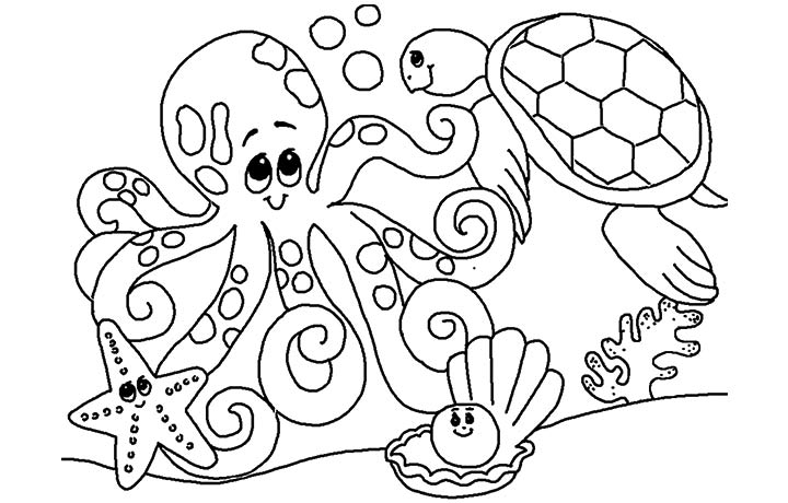 Printable Underwater Colouring Pages Pics Photos