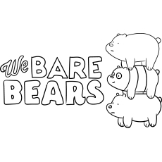 We Bare Bears Coloring Sheet for Kids