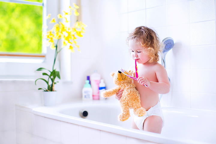 your baby may be reluctant to brush her teeth