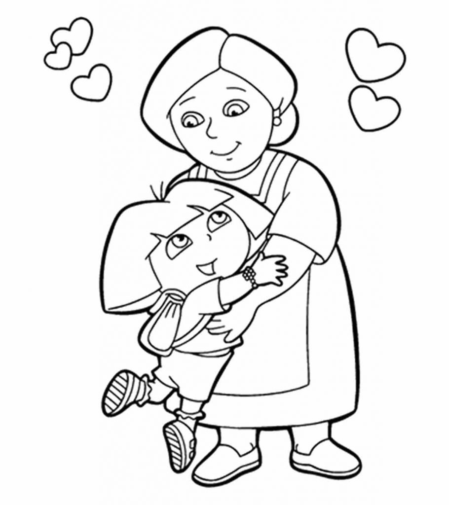 10 ticks calculator coloring book pages | Top 10 Free Printable Grandma Coloring Pages Online