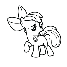 Apple Bloom Coloring Page Printable