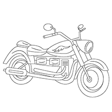 Motorcycle Coloring Pages - Free Printable For Kids