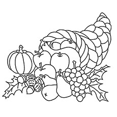 Image Of Fall Season Fruits For Kids To Color