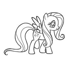 A Fluttershy Coloring Page