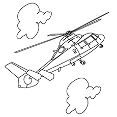 Helicopter Coloring Pages Free Printable for Kids
