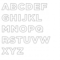 A Letters Of The English Alphabet