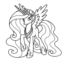 A Princess Cadance Celestia Worksheet For Kids To Color