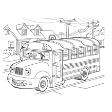 A-Smiling-School-Bus-On-Road