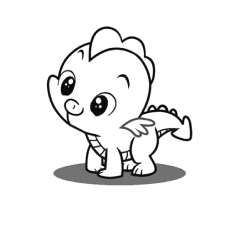 a spike - Pony Coloring Pages