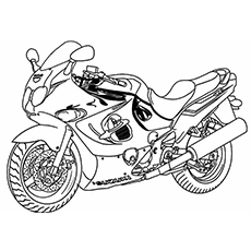 superbike modified motorcycle coloring sheets