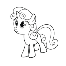 A Sweetie Belle Image to Color
