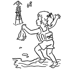 Free Swimming Safety Rule Coloring Sheet