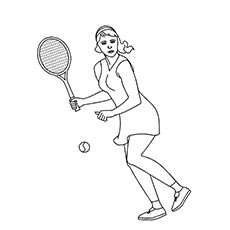 Tennis Sport Coloring Page