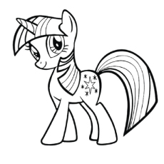 a twilight sparkle image for coloring - Mlp Coloring Book