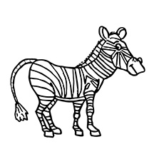 a zebra coloring page t