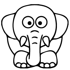 Coloring Page of Bola an Elephant