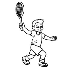 A-boy-playing-tennis-coloring