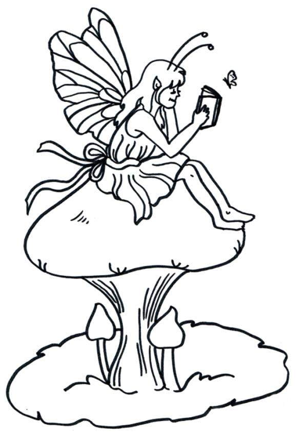A-fairy-on-mushroom