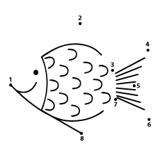 Fish Dot to Dot Coloring Pages Free Printable