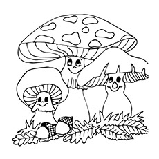 Top 25 Free Pritable Mushroom Coloring Pages Online