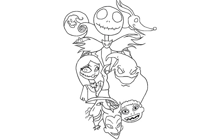 nightmare before christmas coloring pages also related keywords ...