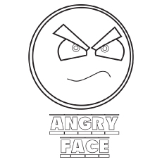 Angry-Face coloring pages