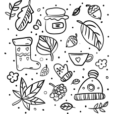 Autumn Pattern Coloring Pages