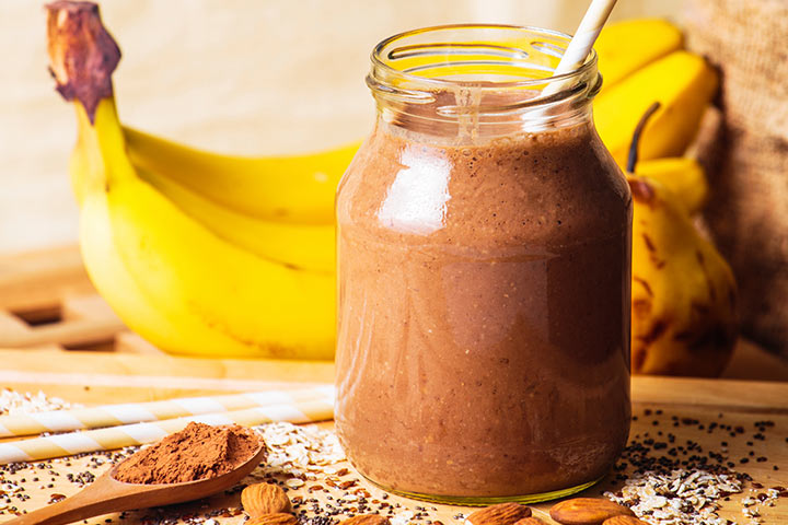 Banana And Almond Butter Protein Smoothie For Kids