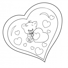 Bear Heart On Valentine