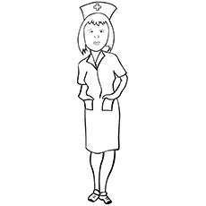 Beautiful Nurse on Duty Coloring Pages