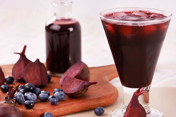 Beetroot Blueberry Smoothies For Kids With Pictures
