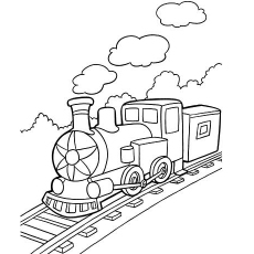 Top  Free Printable Train Coloring Pages Online