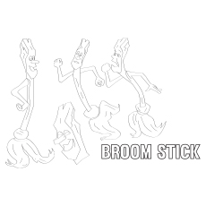 Broom-Stick coloring pages
