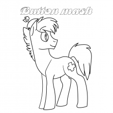 Button Mash Coloring page