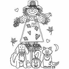 Captivating CB Halloween During Fall Seasom Coloring Page