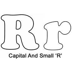 bubble letter r lower r coloring page coloring pages 20708 | Capital And Small %E2%80%98R%E2%80%991